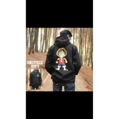 Jual Jaket Hoodie Zipper Anime One Piece Style Luffy D Monkey Best Seller Black Jawa Barat Murah