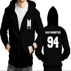 Jaket Hoodie Zipper BTS Rap Monster 94  (New Logo)