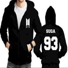 Jaket Hoodie Zipper BTS Suga 93  (New Logo)
