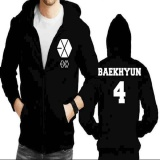 Jaket Hoodie Zipper Exo Baekhyun 4 Not Specified Diskon 30