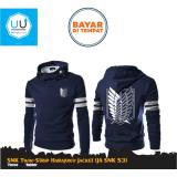 Beli Jaket Hoodie Zipper Harajuku Anime Snk Attcak On Titan Twin Strip Ja Snk 53 Best Seller Navy Di Jawa Barat