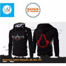 Miliki Segera Jaket Hoodie Zipper Harajuku Assassins Creed Best Seller Black