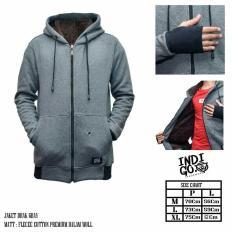 Beli Barang Jaket Hoodie Zipper Indigo Original Bahan Tebal Premium Dalam Bulu Wol Online