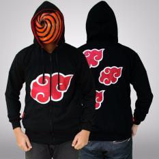 Jual Jaket Hoodie Zipper Naruto Akatsuki Best Seller Black Lengkap