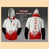 Iklan Jaket Hoodie Zipper Naruto Hokage Yondaime Ii Unisex Best Seller White Black