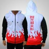 Katalog Jaket Hoodie Zipper Naruto Hokage Yondaime L Best Seller White Terbaru