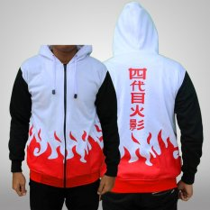 Jual Jaket Hoodie Zipper Naruto Hokage Yondaime L Best Seller White Ori