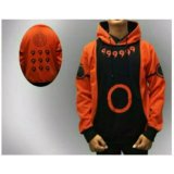 Spesifikasi Jaket Hoodie Zipper Naruto Kyuubi Mode Best Seller Orange Online