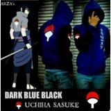 Jual Jaket Hoodie Zipper Naruto Sasuke Uchiha Best Seller Blue Aduuh Murah