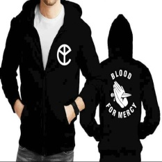 Jaket Hoodie Zipper Yellow Claw Blood For Mercy Not Specified Diskon 50