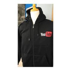 Jual Jaket Hoodie Zipper Youtube Branded