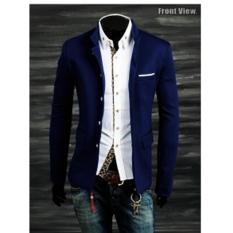 Beli Jaket Jas Blazer Pria Casual Exclusive Biru Secara Angsuran
