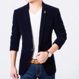 Jual Jaket Jas Blazer Slimfit New Biru Tua Branded Murah