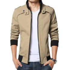 Ulasan Jaket Jas Jacket Zipper Style Blazer Coklat Krem