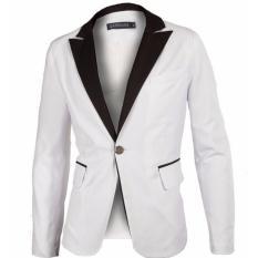 Jual Jaket Jas Jas Blazer Casual Elegan Putih Murah