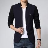 Miliki Segera Jaket Jas Jas Blazer Kombinasi Warna New Style Hitam Biru