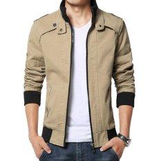 Harga Jaket Jas Korean Style Men S Jacket Coklat Muda Terbaru