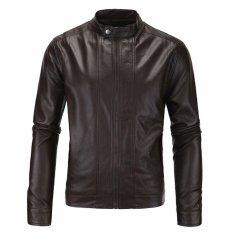Toko Jaket Jas Leather Biker Jacket Trend Mode Coklat Terlengkap Jawa Tengah