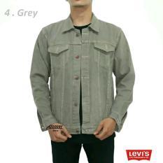 Jaket jeans & Jaket jeans pria & jaket levis8 Grey, Maroon, White, mocca