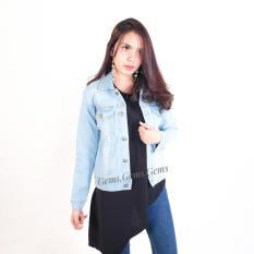 Jaket jeans denim bioblits Strecht washing