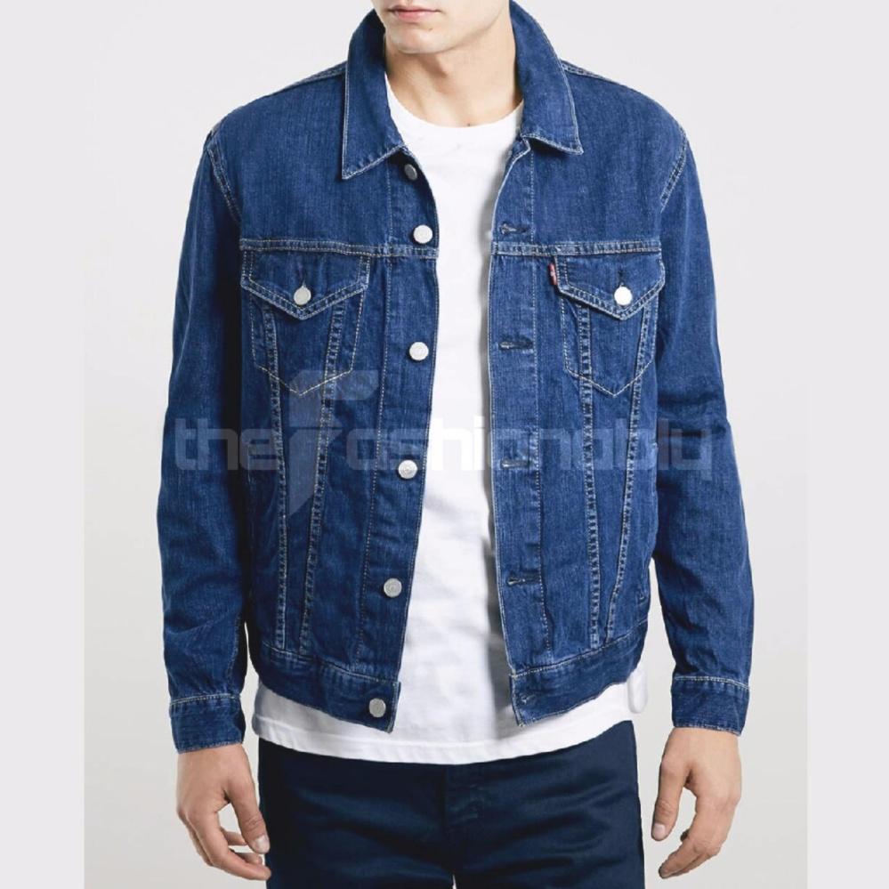 Beli Diskon Jaket Jeans Pria Levis8 Toko Denim Panjang Pengiriman Cepat Biru Wash Premium Quality