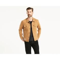 Jaket Jeans Denim Casual Pria - Coklat Muda
