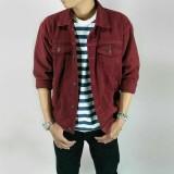 Berapa Harga Jaket Jeans Denim Casual Pria Maroon Di Jawa Barat