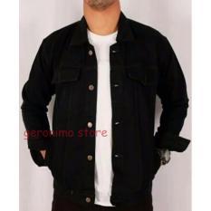 Beli Jaket Jeans Denim Full Black Murah Jawa Barat