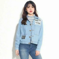 Dimana Beli Jaket Jeans Denim New York Wanita Light Blue D1Ny Collection