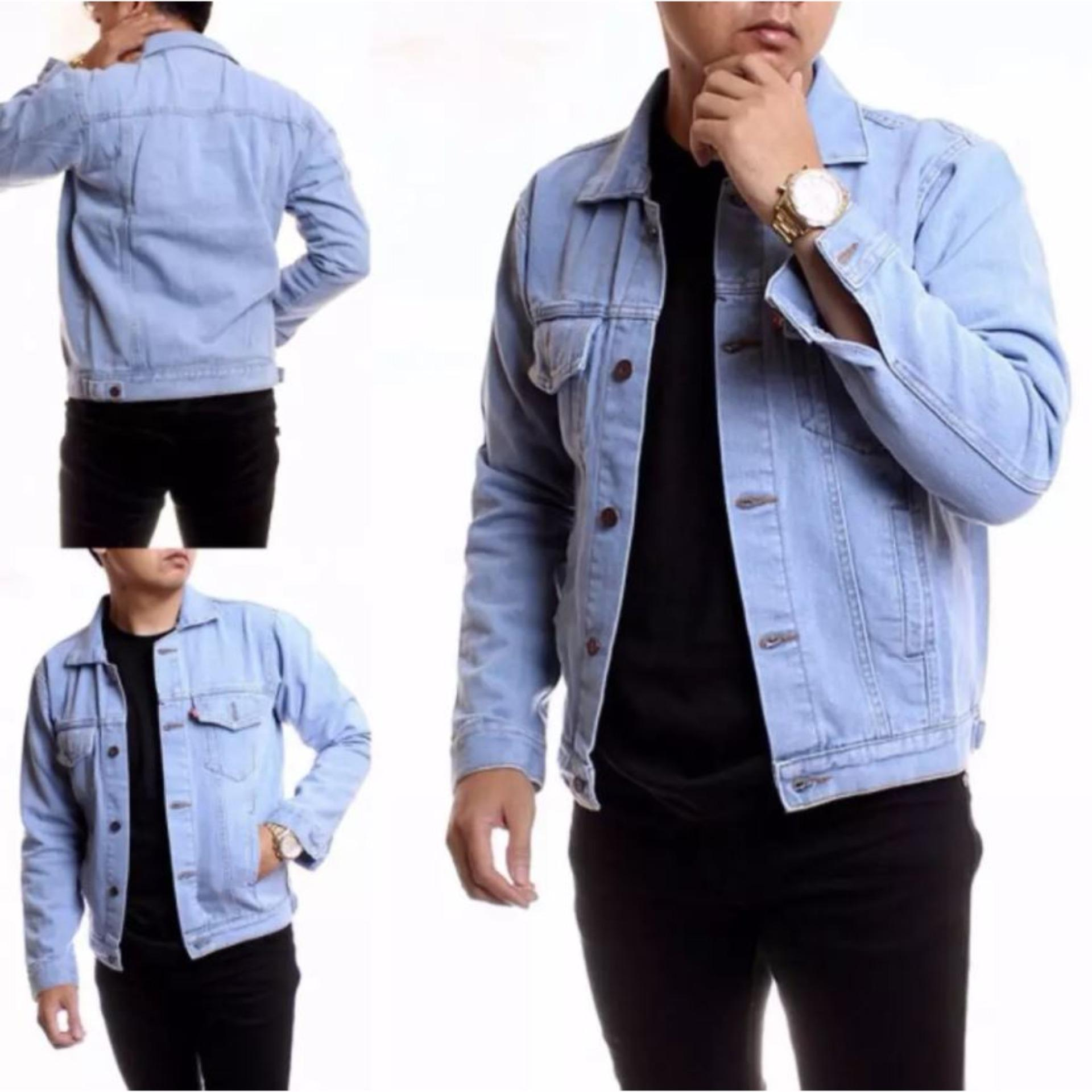 HARGA JUAL AHF Jaket Jeans Denim Pria – Biru Muda (BioBlitz) – Info ... 054b330cb7