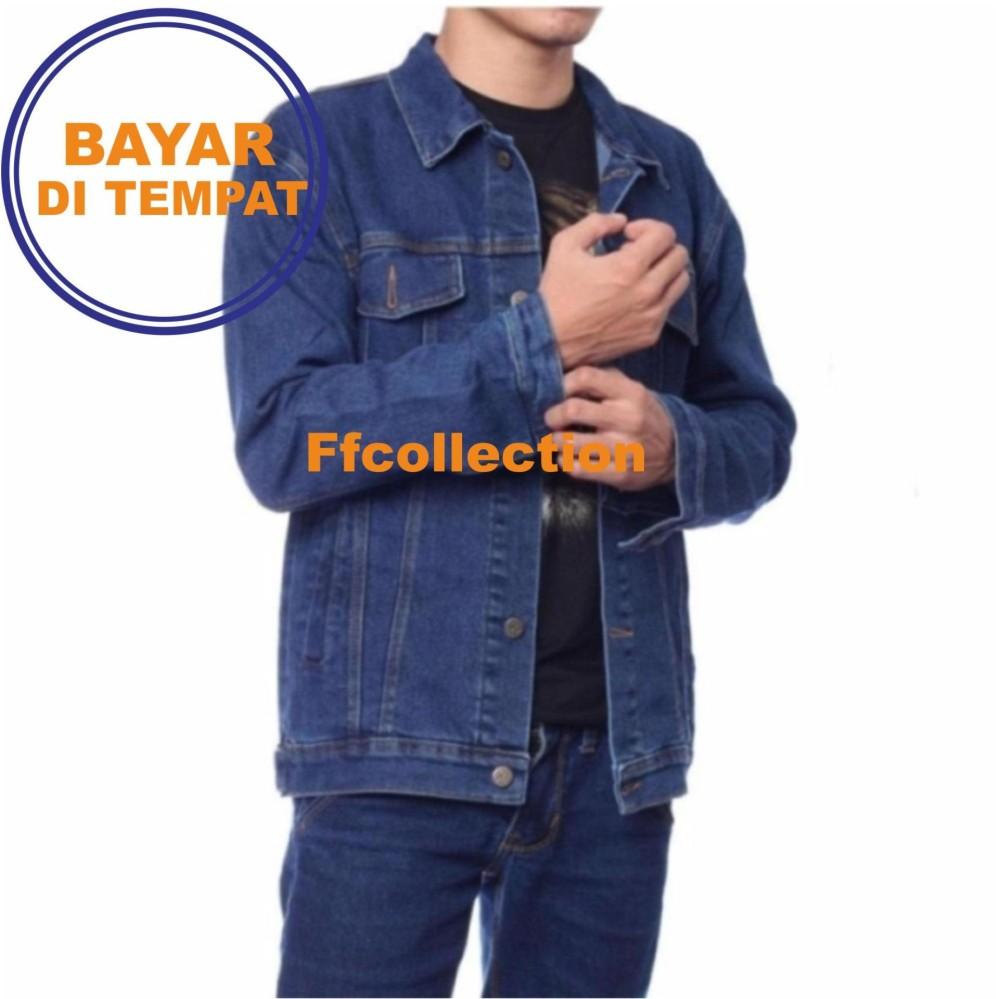 Jaket Jeans / Denim Pria Hight Quality [Blue Black/Garment]
