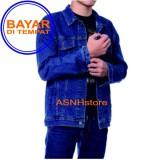 Diskon Jaket Jeans Denim Pria Blue Biowosh Jeans Lokal Jawa Barat