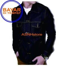 Harga Jaket Jeans Denim Pria Hight Quality Blue Black Garment Dan Spesifikasinya