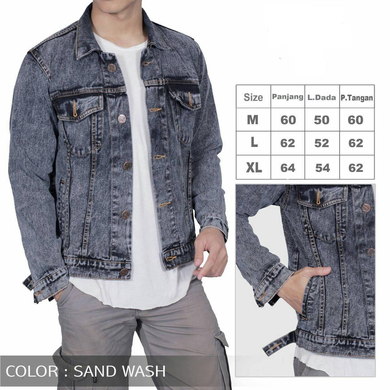 Sandwash Page 2 Toko Online Laris Manis Jual Berbagai Produk Jaket Jeans Denim Pria Abu Murah Berqualitas