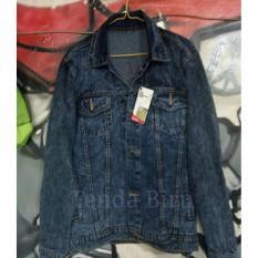 Toko Jaket Jeans Denim Unisex Exlusive Sandwash Blue Lengkap