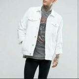 Jual Jaket Jeans Pria White Jaket Jeans Denim Putih Redline4 Branded