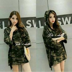 Jaket Jeans Wanita Army Hodie [Outwear 0117] RA1 Murah