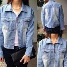 Beli Jaket Jeans Wanita Lightblue Blue Spray Jaket Wanita