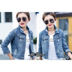 Jaket Jeans Wash Tebal Tifanni Blue Ds Fashion Diskon