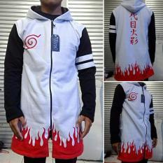 Cuci Gudang Jaket Jubah Anime Naruto Yondaime Hokage Putih Hoodie