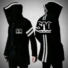 Jaket Jubah Anime Sword Art Online SAO Jacket (JK SAO 3) Best Seller - Black