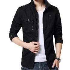 Jaket Kulit - Blazer Jacket Zipper Executive Style -  Hitam