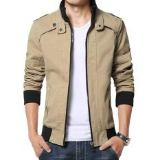 Jaket Kulit - Blazer Jacket Zipper Executive Style - Krem