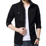 Beli Jaket Kulit Jaket Pria Trend Casual Design Black Online