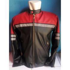 Jaket Kulit Motor AJ Anak Jalanan Kawasaki Ninja Merah