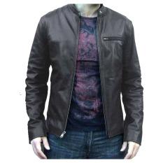Spesifikasi Jaket Kulit Pria Global Dark Brown