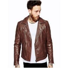 Beli Jaket Kulit Pria Jaket Kulit Bikers Coklat Virza Kulit Domba Asli Famo Blazer Jaket Dengan Harga Terjangkau