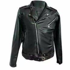 Jaket kulit sintetis model Cangcuters/korea