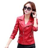 Jual Jaket Kulit Wanita Merah Global Branded