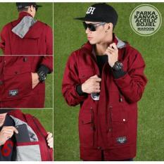 Spesifikasi Jaket Mens Basic Parka Premium Bjl Maroon Yang Bagus